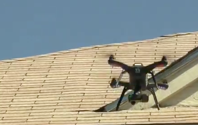 Roof Hail Damage Drones USAA Insurance Claims